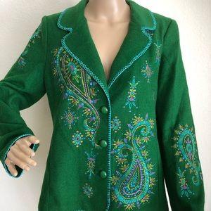 Bob Mackie Wearable Art Embroidered Blazer